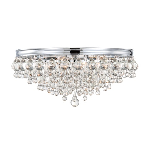 Crystorama Lighting Crystorama Lighting Calypso Polished Chrome Flushmount Light 138-CH