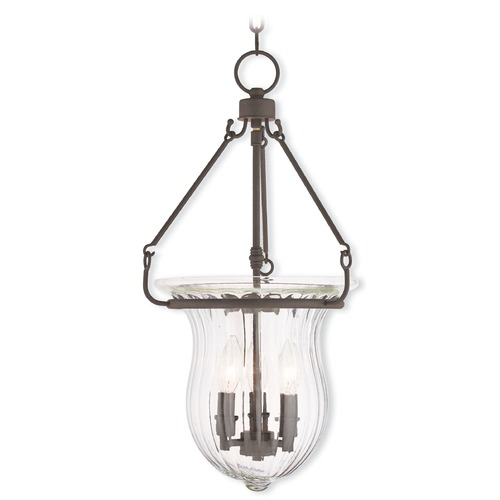 Livex Lighting Livex Lighting Andover Bronze Pendant Light with Fluted Shade 50944-07