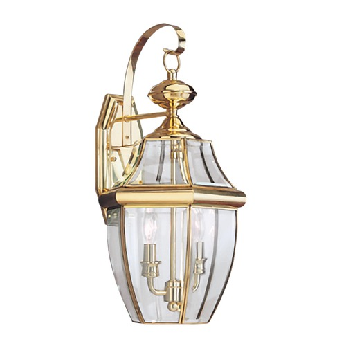 Sea Gull Lighting Sea Gull Lighting Lancaster Polished Brass LED Outdoor Wall Light 8039EN-02