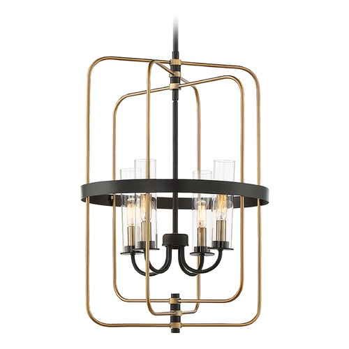 Savoy House Mid-Century Modern Pendant Light Black / Brass Kearney by Savoy House 3-8072-4-51