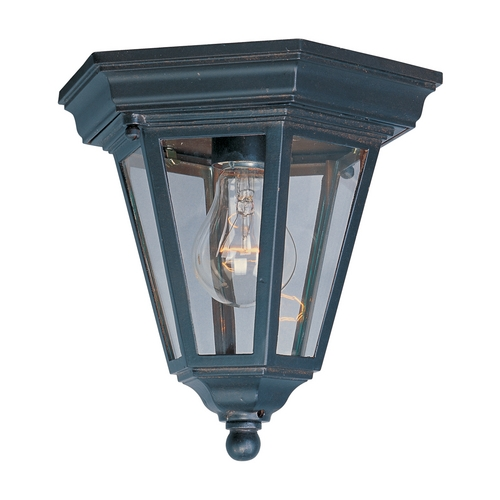 Maxim Lighting Close To Ceiling Light with Clear Glass in Empire Bronze Finish 1027EB
