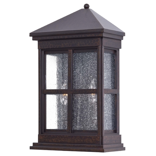 Minka Lavery Outdoor Wall Light with Clear Glass in Rust Finish 8560-51
