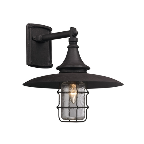Troy Lighting Outdoor Wall Light with Clear Glass in Centennial Rust Finish B3221