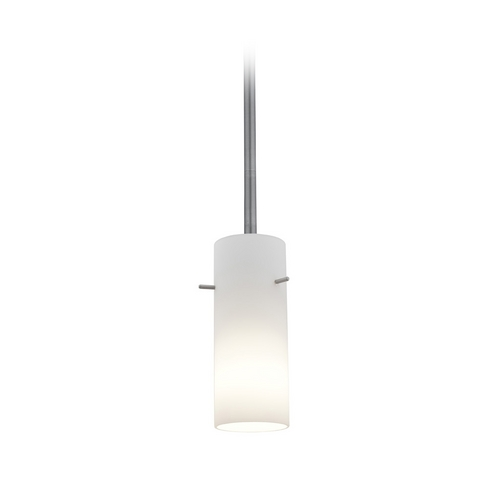 Access Lighting Modern Mini-Pendant Light with White Glass 28030-2R-BS/OPL
