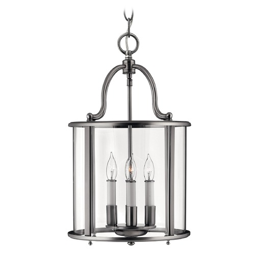 Hinkley Lighting Pendant Light with Clear Glass in Pewter Finish 3474PW