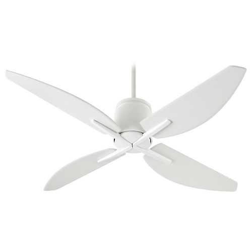 Quorum Lighting Quorum Lighting Kai Studio White Ceiling Fan Without Light 50524-8