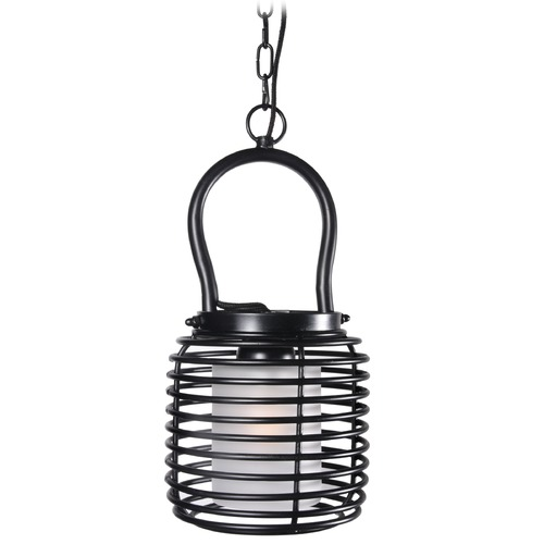 Kenroy Home Lighting Kenroy Home Lighting Foundry Black Mini-Pendant Light with Cylindrical Shade 93048BL