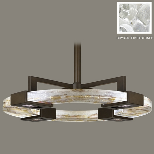 Fine Art Lamps Fine Art Lamps Crystal Bakehouse Bronze Pendant Light 819140-14ST