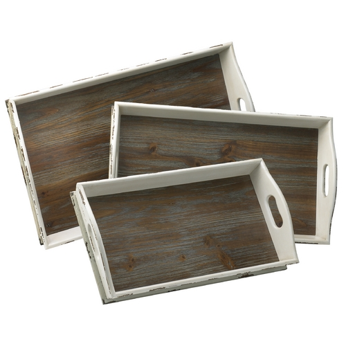 Cyan Design Cyan Design Alder Distressed White & Gray Tray 02470
