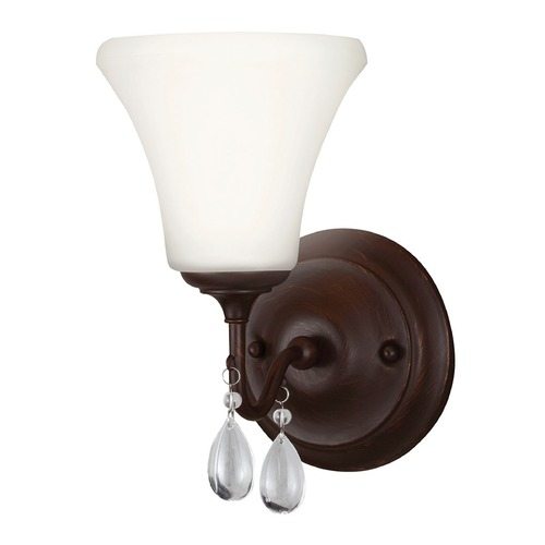 Sea Gull Lighting Sea Gull Lighting West Town Burnt Sienna Sconce 4410501-710