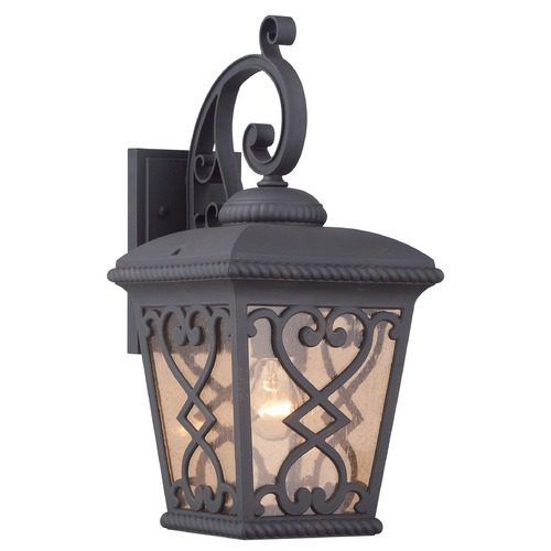 Quoizel Lighting Quoizel Fort Quinn Matte Black Outdoor Wall Light FQ8409MKFL