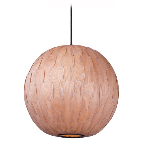 Maxim Lighting Maxim Lighting Norwood Black Pendant Light with Globe Shade 12406UDBK