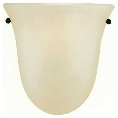 Feiss Lighting Sconce Wall Light with Beige / Cream Glass in Grecian Bronze Finish WB1270GBZ