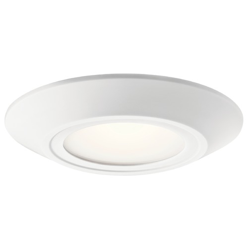 Kichler Lighting Transitional LED Flushmount Light White Horizon II by Kichler Lighting 43870WHLED30B