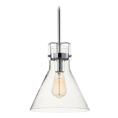 Maxim Lighting Maxim Lighting Seafarer Polished Chrome Pendant Light with Conical Shade 26115CDPC/BUI