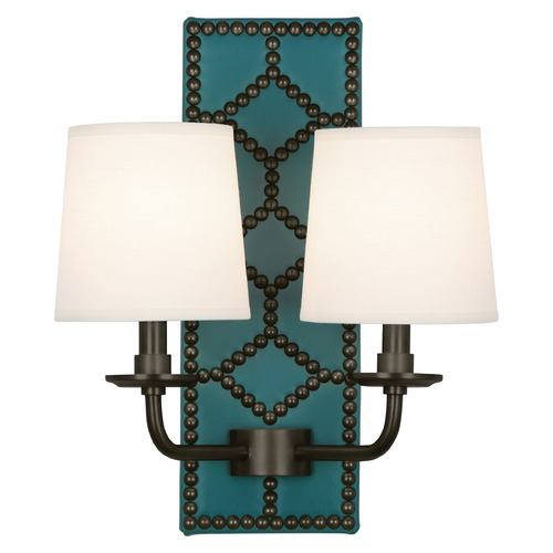 Robert Abbey Lighting Robert Abbey Lighting Williamsburg Lightfoot Wall Sconce with Fondine Fabric Shades Z1033