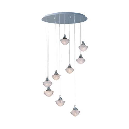 ET2 Lighting Modern Multi-Light Pendant Light 9-Lights E23010-20PC
