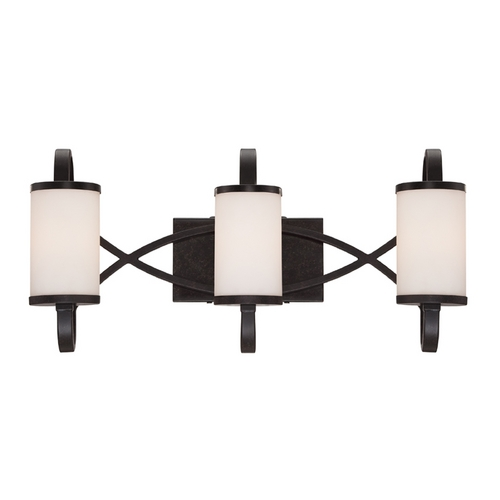 Designers Fountain Lighting Modern Bathroom Light with White Glass in Artisan Finish 84403-ART