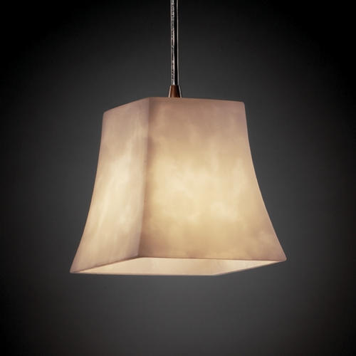 Justice Design Group Justice Design Group Clouds Collection Mini-Pendant Light CLD-8815-40-DBRZ