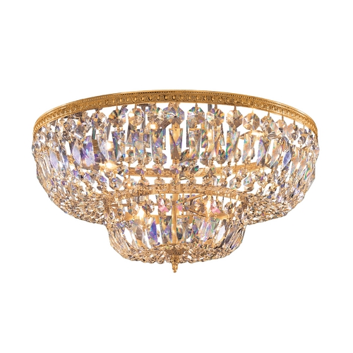 Crystorama Lighting Crystal Flushmount Light in Olde Brass Finish 724-OB-CL-MWP