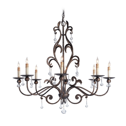 Currey and Company Lighting Crystal Chandelier in Cupertino Finish 9380