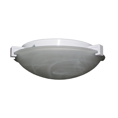 PLC Lighting Modern Flushmount Light with White Glass in Rust Finish 7012  RU
