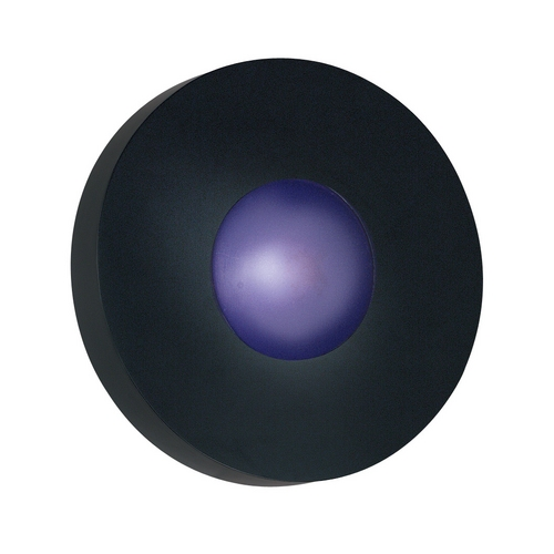 Kenroy Home Lighting Modern Outdoor Wall Light with White Glass in Black Finish 72823BL