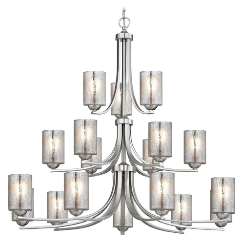 Design Classics Lighting Design Classics Dalton Fuse Satin Nickel Chandelier 5863-09 GL1039C