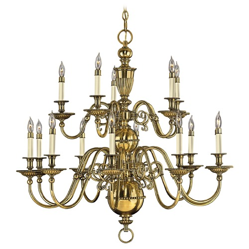 Hinkley Lighting Chandelier in Burnished Brass Finish 4417BB