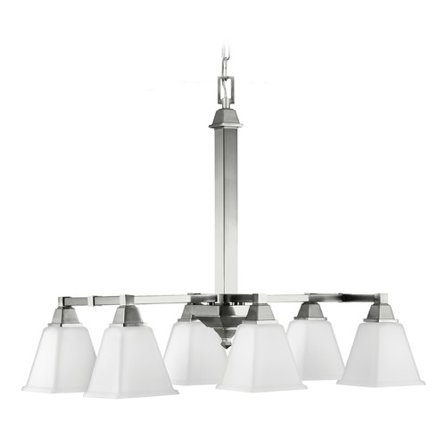 Sea Gull Lighting Sea Gull Lighting Denhelm Brushed Nickel Pendant Light with Square Shade 6750406-962