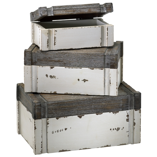 Cyan Design Cyan Design Alder Distressed White & Gray Box 02471