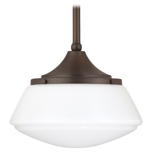 Capital Lighting Capital Lighting Burnished Bronze Pendant Light with Drum Shade 3531BB-129