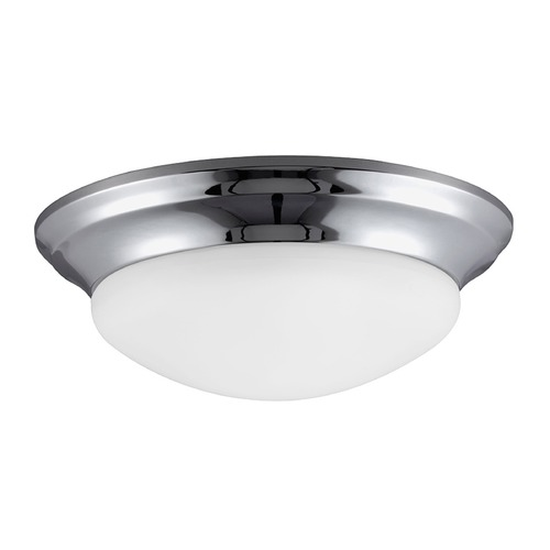 Sea Gull Lighting Sea Gull Lighting Nash Chrome LED Flushmount Light 7543491S-05