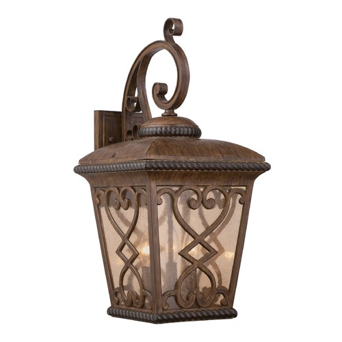 Quoizel Lighting Quoizel Fort Quinn Antique Brown Outdoor Wall Light FQ8411AW