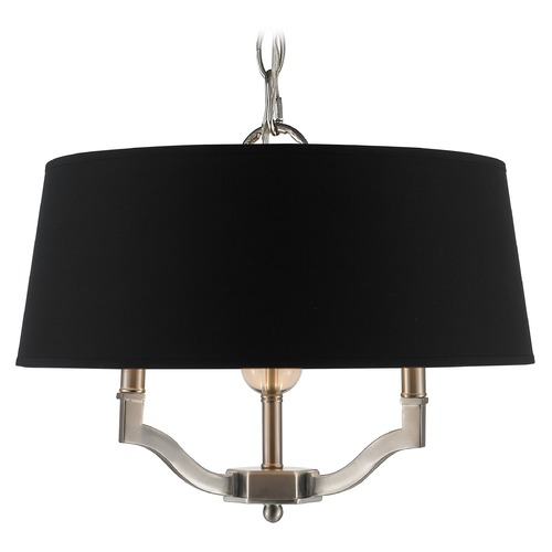 Golden Lighting Golden Lighting Waverly Pewter Pendant Light with Empire Shade 3500-SF PW-GRM