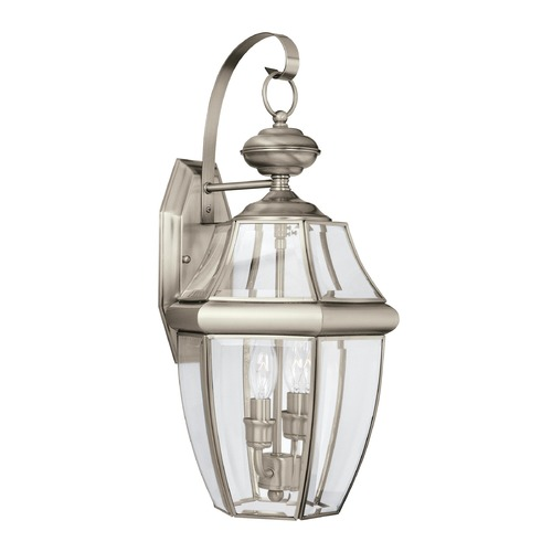 Sea Gull Lighting Sea Gull Lighting Lancaster Antique Brushed Nickel LED Outdoor Wall Light 8039EN-965
