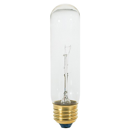Satco Lighting Satco 60 Watt T10 Incandescent 2700K 500 Lumens Clear 120 Volt Teflon Coated Dimmable S2880