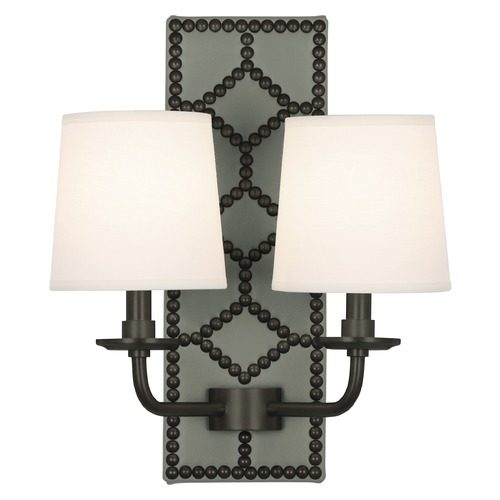 Robert Abbey Lighting Robert Abbey Lighting Williamsburg Lightfoot Wall Sconce with Fondine Fabric Shades Z1034