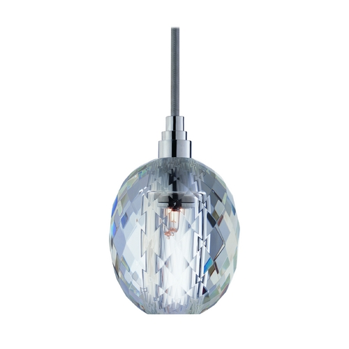 Hudson Valley Lighting Modern Mini-Pendant Light with Clear Glass 3506-PC-S-002
