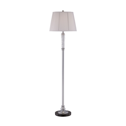 Lite Source Lighting Lite Source Lighting Marcello Chrome Floor Lamp with Drum Shade LS-81830