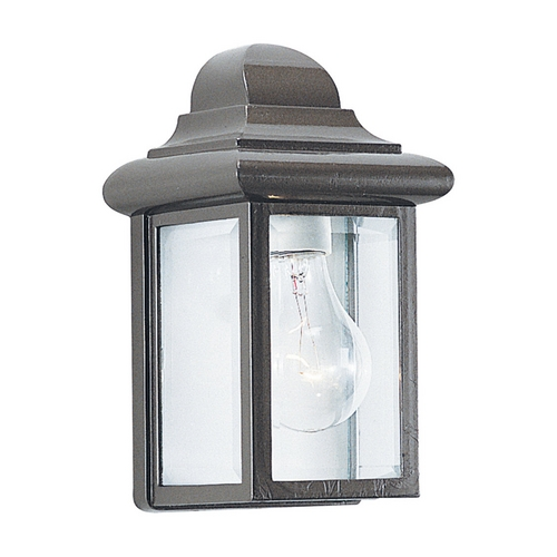 Sea Gull Lighting Outdoor Wall Light with Clear Glass in Bronze Finish 8588-10