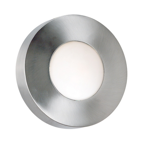Kenroy Home Lighting Modern Outdoor Wall Light with White Glass in Polished Aluminum Finish 72823PA