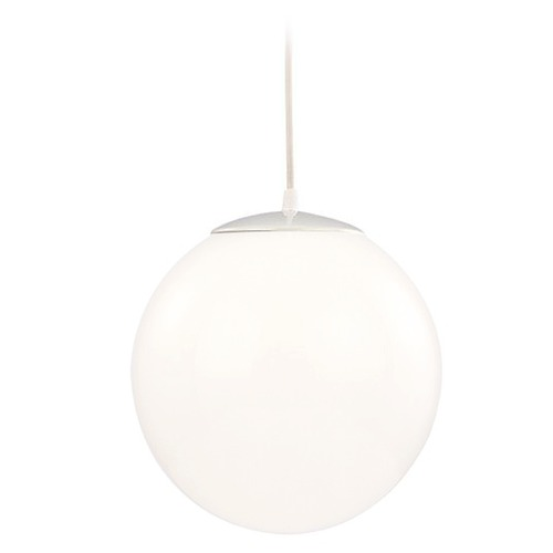 Design Classics Lighting Modern Globe Mini-Pendant Light with White Glass JJ 110