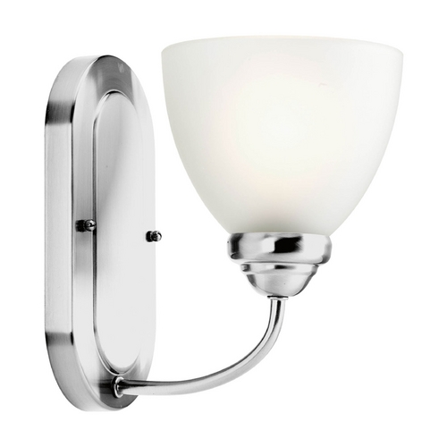 Progress Lighting Progress Sconce Wall Light with White Glass in Polished Chrome Finish P2913-15