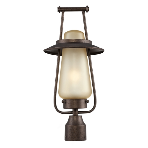Designers Fountain Lighting Post Light with Beige / Cream Glass in Flemish Bronze Finish FL32036-FBZ