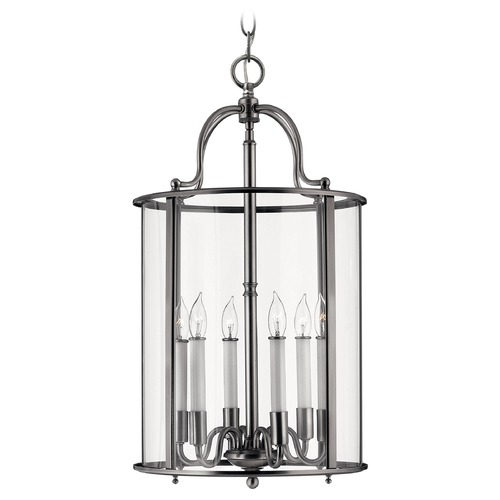Hinkley Lighting Pendant Light with Clear Glass in Pewter Finish 3478PW