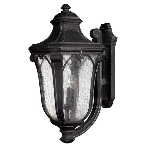 Hinkley Lighting Outdoor Wall Light with Clear Glass in Museum Black Finish 1319MB-GU24