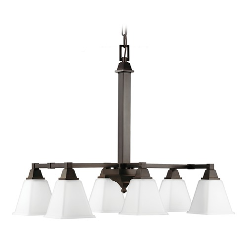 Sea Gull Lighting Sea Gull Lighting Denhelm Burnt Sienna Pendant Light with Square Shade 6750406-710