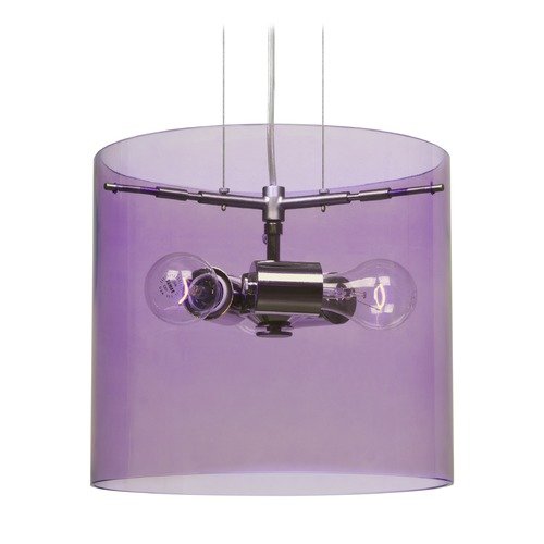 Besa Lighting Besa Lighting Pahu Satin Nickel Pendant Light with Drum Shade 1KG-A18407-SN-NI