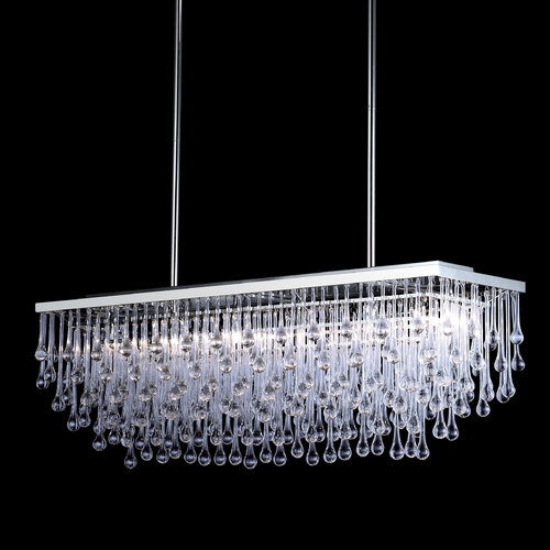 Avenue Lighting Avenue Lighting Hollywood Blvd Polished Nickel Island Light HF1807-PN